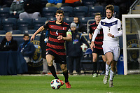 Chester, PA - Friday December 08, 2017: Tomas Hilliard-Arce, Sam Gainford The Stanford Cardinal defeated the Akron Zips 2-0 during an NCAA Men's College Cup semifinal match at Talen Energy Stadium.