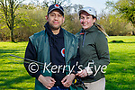 Getting ready to go fishing in the Killarney National park on Saturday, l to r: Charles Neri and Agatha Ostruszka.