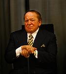 Jewish American billionaire Sheldon Adelson, during a Taglit event at the president residence in Jerusalem Sunday Aug 12 2007 . Photo by Eyal Warshavsky.