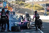 Jack Harvey, Meyer Shank Racing Honda, pit stop