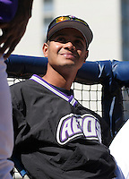 Akron Aeros Ivan Ochoa during an Eastern League game at Canal Park on April 15, 2006 in Akron, Ohio.  (Mike Janes/Four Seam Images)
