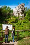 Deutschland, Bayern, Niederbayern, Naturpark Bayerischer Wald, bei Viechtach: Pfahlriegel St. Antoniuspfahl   Germany, Bavaria, Lower-Bavaria, Nature Park Bavarian Forest, near Viechtach: Pfahlriegel St. Antonius, quartz vein of 150 km length through the Bavarian Forest