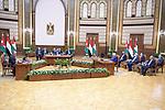 Palestinian president Mahmoud Abbas , Egyptian President Abdel Fattah al-Sisi, and Jordanian King Abdullah II, attend the tripartite summit, in cairo, Egypt, on September 02, 2021. Photo by Thaer Ganaim