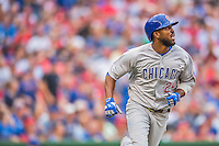 15 June 2016: Chicago Cubs outfielder Dexter Fowler in action against the Washington Nationals at Nationals Park in Washington, DC. The Cubs fell to the Nationals 5-4 in 12 innings, giving up the rubber match of their 3-game series. Mandatory Credit: Ed Wolfstein Photo *** RAW (NEF) Image File Available ***