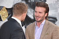 """Charlie Hunnam and David Beckham<br /> at the premiere of """"King Arthur:Legend of the Sword"""" at the Empire Leicester Square, London. <br /> <br /> <br /> ©Ash Knotek  D3265  10/05/2017"""