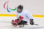 Karl Ludwig, Sochi 2014 - Para Ice Hockey // Para-hockey sur glace.<br /> Canada's Para Ice Hockey team practices before the games begin // L'équipe canadienne de para hockey sur glace s'entraîne avant le début des matchs. 02/03/2014.