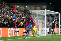 GOAL - Wilfried Zaha of Crystal Palace is the scorer during the Premier League match between Crystal Palace and Brighton and Hove Albion at Selhurst Park, London, England on 16 December 2019. Photo by Carlton Myrie / PRiME Media Images.