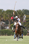 WELLINGTON, FL - APRIL 15:  Agustin Oregon of Palm Beach Illustrated takes a shot at the goal in the $100,000 World Cup Final, at the Grand Champions Polo Club, on April 15, 2017 in Wellington, Florida. (Photo by Liz Lamont/Eclipse Sportswire/Getty Images)