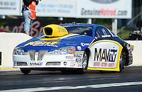 May 4, 2012; Commerce, GA, USA: NHRA pro stock driver Rodger Brogdon during qualifying for the Southern Nationals at Atlanta Dragway. Mandatory Credit: Mark J. Rebilas-