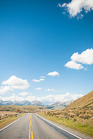 High Country road near Porters Pass, Canterbury, New Zealand