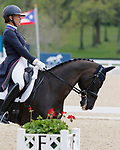 April 23, 2021:#61 Mai Baum and Tamra Smith from the USA finish in 2nd place of 5* Dressage  at the Land Rover Three Day Event at the Kentucky Horse Park in Lexington, KY on April 23, 2021.  Candice Chavez/ESW/CSM