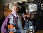 Cowboy poet, Ed Brown, at Cowboy Poetry Fesitval, Maple Creek, Saskatchewan