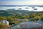 Cadillac Mountain view of Frenchman Bay, Acadia National Park, ME