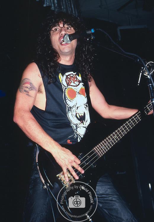 Tom Araya of Slayer, Photo By David Plastik/IconicPix 1988 Los Angeles