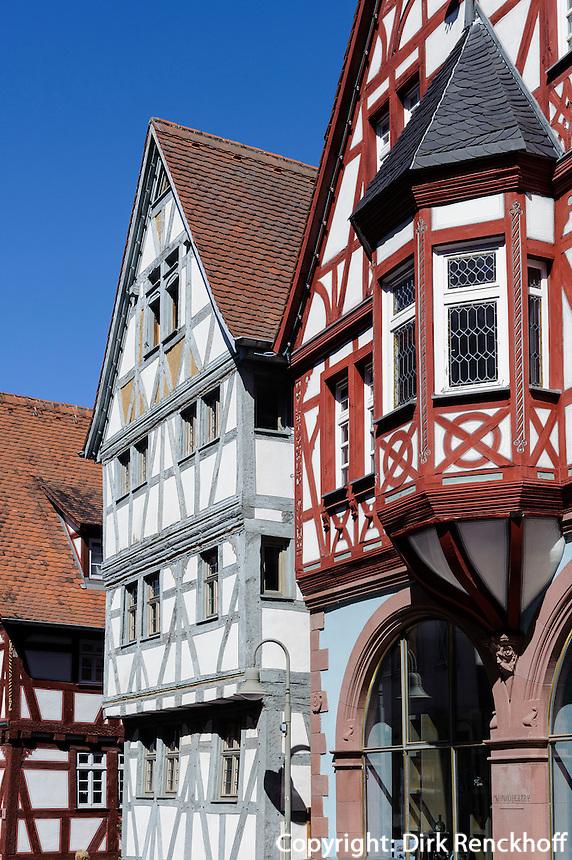 Rathaus von 1561 in Klingenberg am Main, Bayern, Deutschland