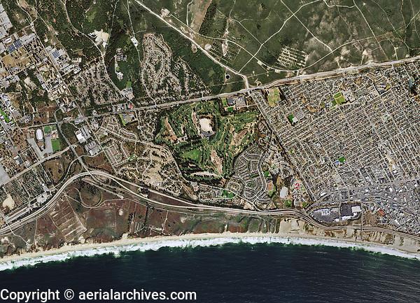 aerial map of Seaside Monterey County, California