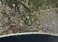 aerial map of Seaside Monterey County, California