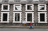 Philippines, Manila, 5 march, 2008..Ruins in Intramuros the oldest district of the city of Manila...Ruines in Intramuros, het oudste district van Manila, de hoofdstad van de Filippijnen...Photo Kees Metselaar