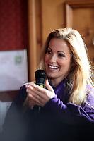 Moderatorin Andrea Kaiser (SAT 1)