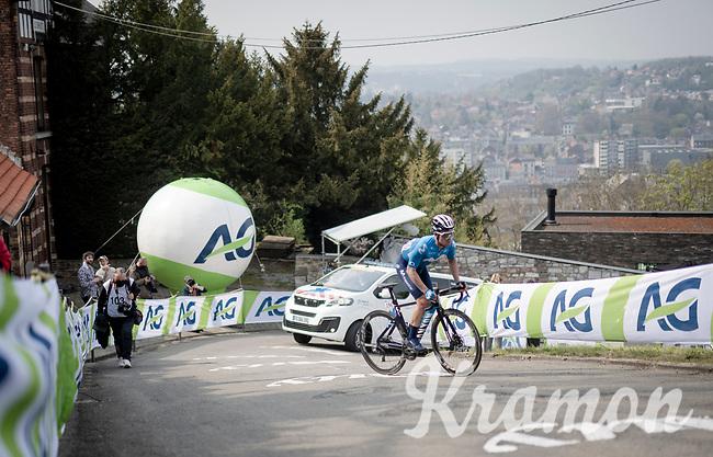 Gonzalo Serrano (ESP/Movistar)  suffering up the infamous Mur de Huy<br /> <br /> 85th La Flèche Wallonne 2021 (1.UWT)<br /> 1 day race from Charleroi to the Mur de Huy (BEL): 194km<br /> <br /> ©kramon