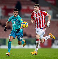 2nd January 2021; Bet365 Stadium, Stoke, Staffordshire, England; English Football League Championship Football, Stoke City versus Bournemouth; Junior Stanislas of Bournemouth breaks forward to score a 79th minute goal to put Bournemouth ahead 1-0
