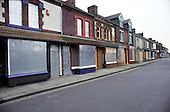 """Housing awaiting probable demolition in an area of """"low demand"""" in South Bank, Middlesborough."""