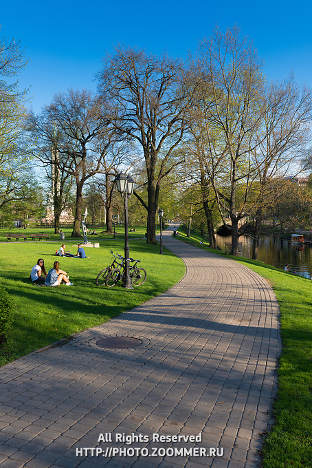 Bastion Hill Park historic place in Riga, Latvia
