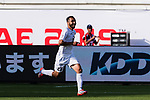 Akhlidin Israilov of Kyrgyz Republic celebrates scoring the goal during the AFC Asian Cup UAE 2019 Group C match between China (CHN) and Kyrgyz Republic (KGZ) at Khalifa Bin Zayed Stadium on 07 January 2019 in Al Ain, United Arab Emirates. Photo by Marcio Rodrigo Machado / Power Sport Images