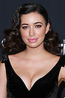 UNIVERSAL CITY, CA, USA - OCTOBER 02: Christian Serratos arrives at the Los Angeles Premiere Of AMC's 'The Walking Dead' Season 5 held at AMC Universal City Walk on October 2, 2014 in Universal City, California, United States. (Photo by David Acosta/Celebrity Monitor)