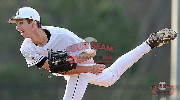 Photo of the University of South Carolina Upstate Spartans in a game against the College of Charleston Cougars  on Tuesday, March 31, 2015, at Cleveland S. Harley Park in Spartanburg, South Carolina. Charleston won, 10-0. (Tom Priddy/Four Seam Images)