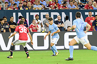 Houston, TX - Thursday July 20, 2017: Brahim Diaz during a match between Manchester United and Manchester City in the 2017 International Champions Cup at NRG Stadium.