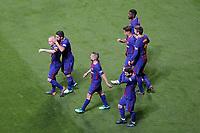 FC Barcelona's Andres Iniesta, Luis Suarez, Jordi Alba, Leo Messi, Philippe Coutinho, Gerard Pique and Samuel Umtiti celebrate goal during Spanish King's Cup Final match. April 21,2018. (ALTERPHOTOS/Acero)