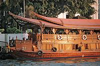 "Thaïlande/Bangkok: Navigation Sur le Chao Phraya - La jonque de l'hotel ""Oriental"""