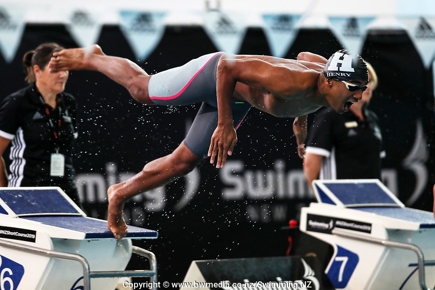 Tyrone Henry, 50m Fly. New Zealand Short Course Swimming Championships, National Aquatic Centre, Auckland, New Zealand, Tuesday 1st October 2019. Photo: Simon Watts/www.bwmedia.co.nz/SwimmingNZ