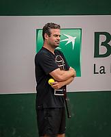 Paris, France, 26 May, 2019, Tennis, French Open, Roland Garros, Coach Raemon Sluiter (NED) coaching Kiki Bertens of the Netherlands<br /> Photo: Henk Koster/tennisimages.com