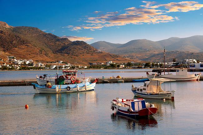 The harbour of Ormos, Ios, Cyclades Islands, Greece