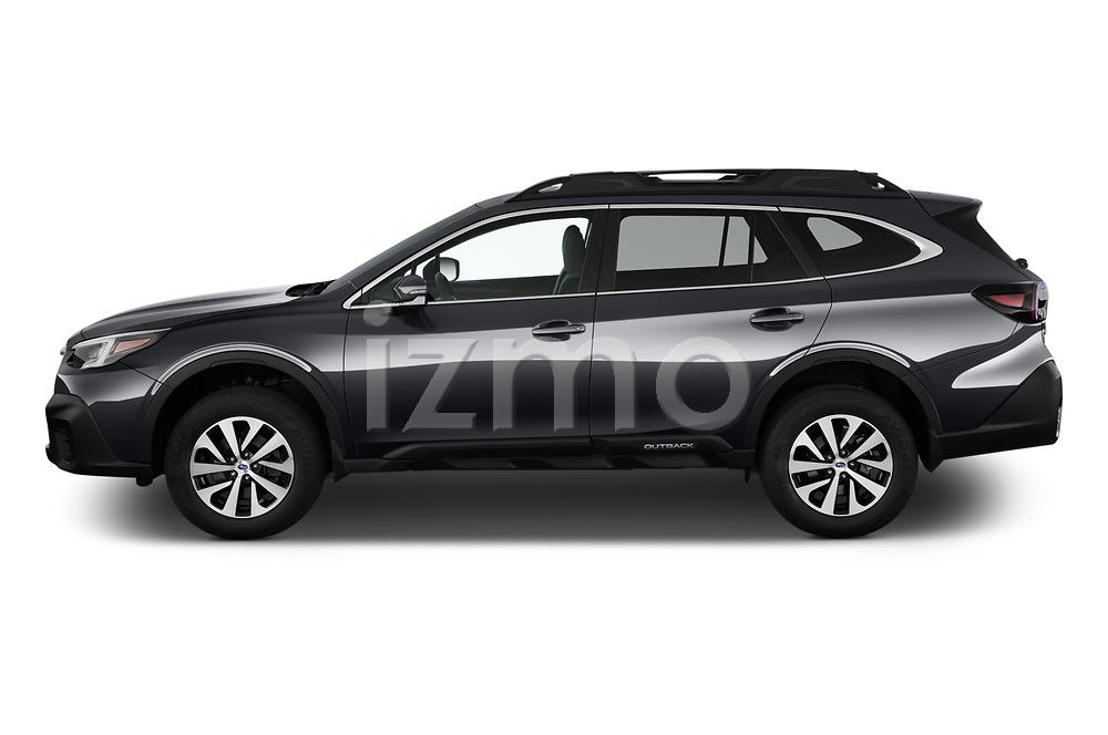 Car Driver side profile view of a 2020 Subaru Outback Premium 5 Door Wagon Side View