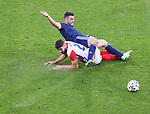 22.06.2021 Croatia v Scotland: John McGinn tackled by Josko Gvardiol