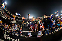 VALENCIA, SPAIN - DECEMBER 5: Valencia Fans celebrating a goal during BBVA LEAGUE match between Valencia C.F. and FC Barcelona at Mestalla Stadium on December 5, 2015 in Valencia, Spain