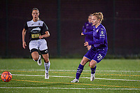 Anderlecht midfielder Charlotte Tisson (20) pictured during a female soccer game between RSC Anderlecht Dames and Eendracht Aalst Ladies  on the fourth matchday of the 2020 - 2021 season of Belgian Womens Super League , Tuesday 13 th of October 2020  in ANDERLECHT , Belgium . PHOTO SPORTPIX.BE | SPP | STIJN AUDOOREN