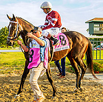 SEPT 25, 2021: Midnight Bourbon post parade in the Gr.1 Pennsylvania Derby, for 3-year olds, going 1 1/8 mile, at Parx Racing, Bensalem, PA. Sue Kawczynski/Eclipse Sportswire/CSM