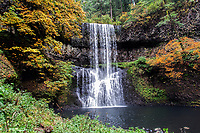Lower South Falls during the Autumn at Silver Falls State Park in Oregon, USA.
