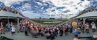 U.S. Air Force Thunderbirds flyover, Daytona 500, Daytona International Speedway, February 21, 2016.  (Photo by Brian Cleary/ www.bcpix.com )