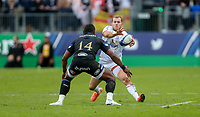 16 November 2019; Will Addison is tackled by Semesa Rokoduguni during the Heineken Champions Cup Pool 3 Round 1 match between Bath and Ulster at The Recreation Ground in Bath, England. Photo by John Dickson/DICKSONDIGITAL
