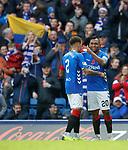 11.11.2018 Rangers v Motherwell: Alfredo Morelos celebrates his goal