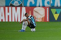 28th August 2021; Arena do Gremio, Porto Alegre, Brazil; Brazilian Serie A, Gremio versus Corinthians; Ruan of Gremio sits frustrated after the match