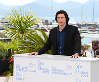 CANNES, FRANCE. July 6, 2021: Adam Driver at the photocall for Annette at the 74th Festival de Cannes.<br /> Picture: Paul Smith / Featureflash