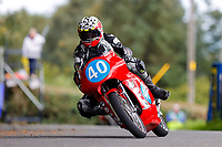 11th September 2021; Cookstown, County Tyrone, Northern Ireland, Cookstown 100 Road Races: Barry Davidson on his 350 Dempster Honda during the Junior Classic race