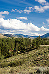 The Methow Valley viewed from above the Chewuk River outside Winthrop, Washington. Chewuch River