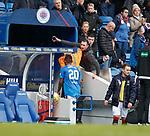 05.05.2018 Rangers v Kilmarnock: Alfredo Morelos heads straight down the tunnel at full time